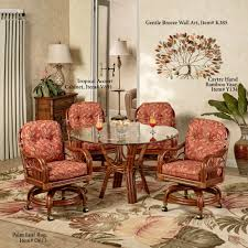 Dining Room Chair Sets by Leikela Papaya Medley Tropical Dining Furniture Set