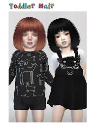 child bob haircut sims 4 12 best the sims 4 cc hair toddlers images on pinterest kids