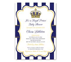 amazon com royal prince baby shower invitation prince baby
