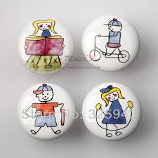 Ceramic Kitchen Cabinet Knobs by 10pcs Cute Cartoon Ceramic Kitchen Cabinet Knobs Sports Child