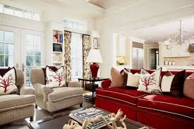 Red Furniture Living Room Ideas To Accessorizing Your Red Sofa Wearefound Home Design