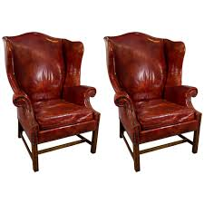 Mid Century Leather Chairs Chair Mid Century Leather Wingback Chair For Sale At Pam Leather