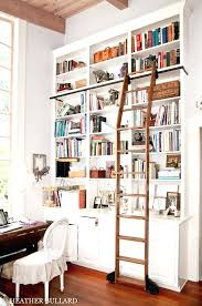 Wooden Ladder Bookshelf Plans by Bookcase Built In Bookshelves With Ladder Step Ladder Bookcase
