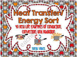 heat energy transfer sort conduction convection and radiation
