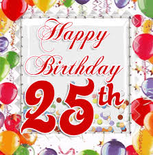 25th birthday wishes quotes cards and messages happy birthday