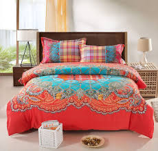Linen Colored Bedding - bohemian bedding set thicken cotton brushed comforter bedding sets