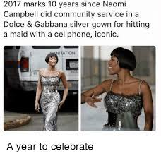 Naomi Meme - 2017 marks 10 years since naomi cbell did community service in a