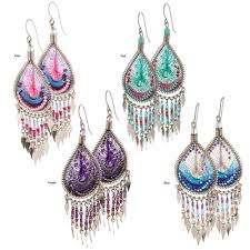 thread earrings dazzling chandelier thread earrings the hunger site