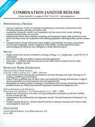 sample electrical resume janitor combination resume sample sample