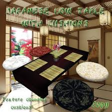 Low Table Set - second life marketplace ud traditional japanese low table set