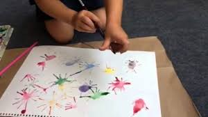 fireworks straw painting 4th of july craft youtube