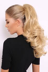 ponytail hair bouncy luxe 18 curly ponytail lullabellz