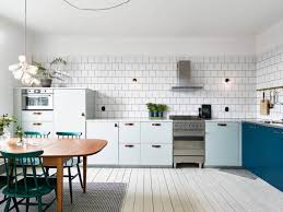 kitchen in mint and petrol coco lapine design kitchens
