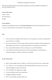 Sample Resume For 2 Years Experience In Software Testing by Manual Testing Sample Resume Agile Qa Testing Resume Software