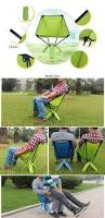 aotu portable stable foldable nylon chair seat for fishing hiking