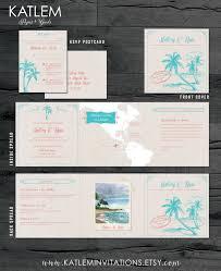 Saint Lucia Map St Lucia Destination Wedding Invitation Tri Fold Invitation