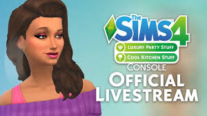 the sims 4 console luxury party u0026 cool kitchen stuff livestream