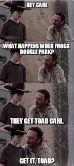 Rick And Carl Meme - the walking dead 23 of the funniest rick carl dad jokes smosh