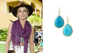 serenity earrings julianne hough wearing the serenity drops in turquoise by