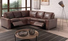 Top Grain Leather Sectional Sofas 0003141 Bradley Top Grain Leather Feather Sectional Sofa With