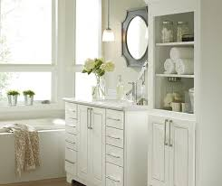 Bathroom With White Cabinets - contemporary bathroom vanities kemper cabinetry