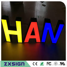 2017 factory outlet outdoor advertising front lit acrylic light