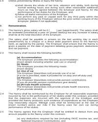 Resume Of Nanny Nanny Contract Template