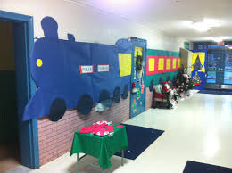 my friends and i decorated this door for our kids classroom the