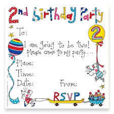 2nd birthday party invitation cards invitation cards party ark