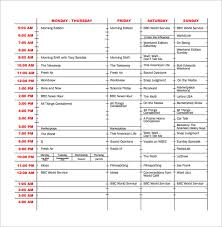 page layout program exles program schedule templates 12 free word excel pdf format