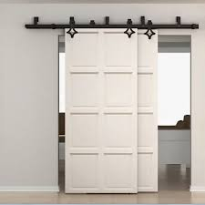 barn doors winsoon 5 16ft bypass sliding barn door hardware double track kit