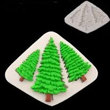 3d tree silicone mold fondant cake decorating chocolate