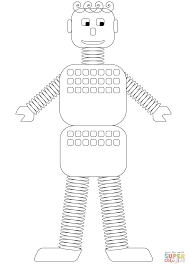 old style robot coloring page free printable coloring pages