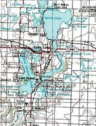 map of iowa towns spirit lake iowa