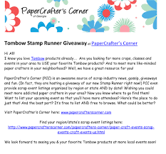tombow stamp runner giveaway with papercrafter u0027s corner