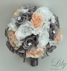 silk flower bouquets wedding bouquet wedding flowers silk flower bouquet