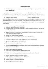 20 free esl subject verb agreement worksheets