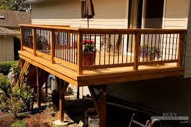 Patio Rails Ideas Outdoor U0026 Garden Deck Railing Ideas And Materials Railings For