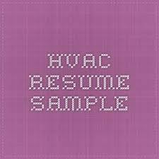 Hvac Installer Job Description For Resume by Hvac Technician Resume Sample Creative Resume Design Templates