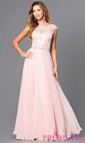lace illusion long pastel prom dress promgirl