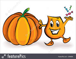 halloween cartoon image halloween cartoon character with treets and big pumpkin stock