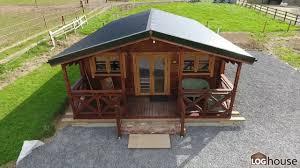 2 bed type c log cabin built by loghouse ie youtube