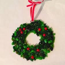 here u0027s my new ornament for this year this wreath is made from