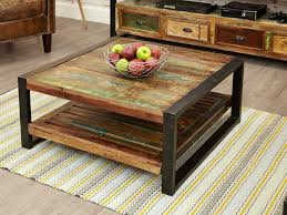 coffee tables attractive inspiring brown square rustic reclaimed