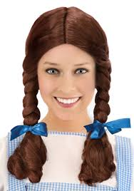 girls wizard of oz costume deluxe kansas costume wig