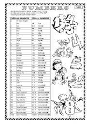 english worksheets cardinal and ordinal numbers worksheets