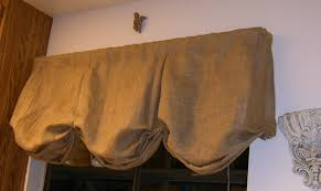 decor u0026 tips casual elegance of burlap box pleat balloon curtains