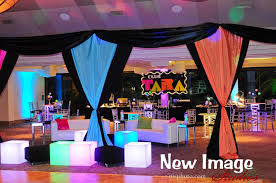 neon club themed bat mitzvah teen area party perfect boca raton