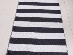 Black White Runner Rug Black And White Striped Woven Cotton Rug Sevensmith