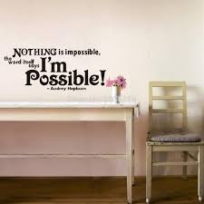 popular nothing quotes buy cheap lots from china inspirational quotes nothing impossible removable vinyl wall decal home stickers for kids room living